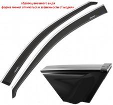 Cobra Tuning Profi Дефлекторы окон Kia Ceed II Hb 3d 2012 с хромированным молдингом