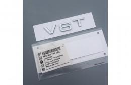 Эмблема шильдик Audi V6T ( логотип на переднее крыло )