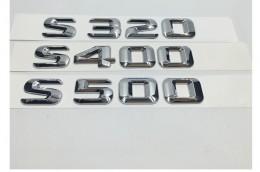 Шильдик надпись S320 S350 S400 S500 S550 S600 Mercedes