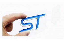 Эмблема шильдик Ford ST на крышку багажника (металл)