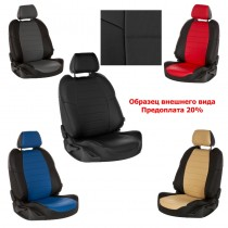 Prestige Чехлы на сидения Hyundai Accent 2010- (цельная спинка)