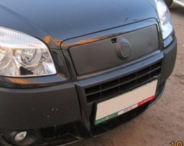 Зимняя заглушка на решетку радиатора Fiat Doblo 2006-2012 (верх)