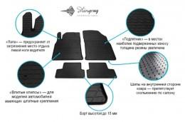 Stingray Коврики резиновые Renault Megane II 02- передние