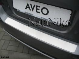 NataNiko Накладка на задний бампер Chevrolet Aveo 5D/3D 2006-2011