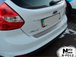 NataNiko Накладка на задний бампер Ford Focus III 5D 2011-2014