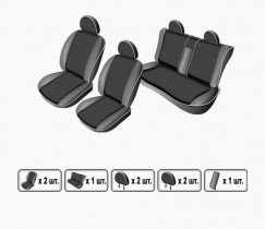 EMC-Elegant Чехлы на сидения ВАЗ Lada Priora 2170 sed с 2007 г