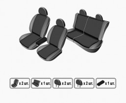 EMC-Elegant Чехлы на сидения ВАЗ Lada Priora 2172 htb с 2008 г