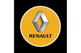 Проекция логотипа Renault. Проводные проекторы 5 Вт