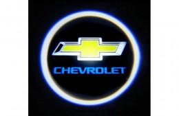 Проекция логотипа Chevrolet. Беспроводные проекторы 7Вт