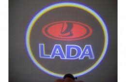 Проекция логотипа Lada. Беспроводные проекторы 7Вт