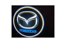 Проекция логотипа Mazda .Беспроводные проекторы 7Вт