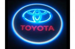 Проекция логотипа Toyota.Беспроводные проекторы 7Вт
