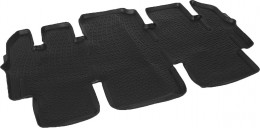 L.Locker Коврики в салон Hyundai Starex (07-) 2-й ряд сидений 3D
