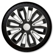 4 Racing Колпаки для колес Avalon Silver Black R13 (Комплект 4 шт.)