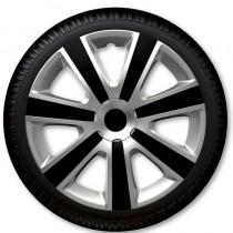 4 Racing Колпаки для колес VR Silver Black R13 (Комплект 4 шт.)