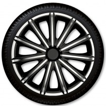 4 Racing Колпаки для колес Nero Black Silver R13 (Комплект 4 шт.)