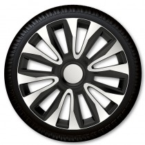 4 Racing Колпаки для колес Avalon Silver Black R15 (Комплект 4 шт.)