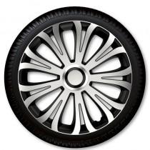 4 Racing Колпаки для колес Avera Silver Black R16 (Комплект 4 шт.)
