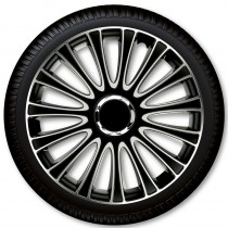 4 Racing Колпаки для колес Le Mans Pro Silver Black R16 (Комплект 4 шт.)