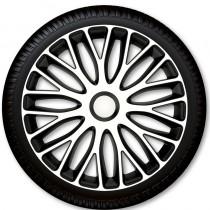 4 Racing Колпаки для колес Mugello White Black R15 (Комплект 4 шт.)