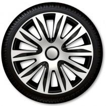 4 Racing Колпаки для колес Nardo Silver Black R16 (Комплект 4 шт.)
