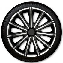 4 Racing Колпаки для колес Nero Black Silver R14 (Комплект 4 шт.)