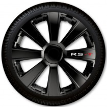 4 Racing Колпаки для колес RS-T Black R15 (Комплект 4 шт.)