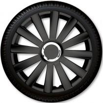 4 Racing Колпаки для колес Spyder Pro Black R15 (Комплект 4 шт.)