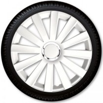 4 Racing Колпаки для колес Spyder Pro White R15 (Комплект 4 шт.)