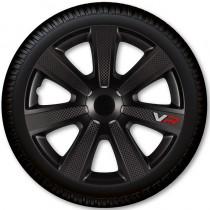 4 Racing Колпаки для колес VR Carbon Black R16 (Комплект 4 шт.)