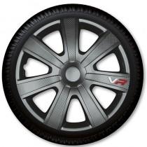 4 Racing Колпаки для колес VR Carbon Grey R14 (Комплект 4 шт.)