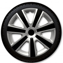 4 Racing Колпаки для колес VR Silver Black R14 (Комплект 4 шт.)