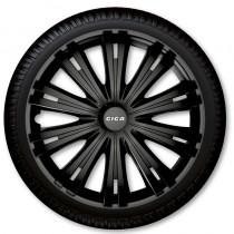 ARGO Колпаки для колес Giga Black R15 (Комплект 4 шт.)
