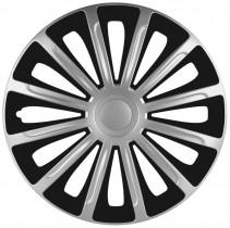 Elegant Колпаки для колес Trend silver&black R15 (Комплект 4 шт.)