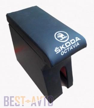 Probass Tuning Подлокотник Skoda Oktavia tour 1996-2010 с вышивкой черный