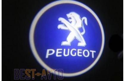 Проекция логотипа Peugeot.Беспроводные проекторы Peugeot 7Вт