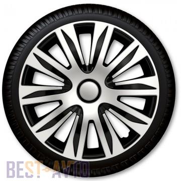 4 Racing Колпаки для колес Nardo Silver Black R13 (Комплект 4 шт.)
