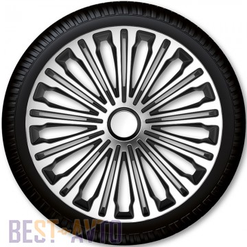 4 Racing Колпаки для колес Volante Silver Black R13 (Комплект 4 шт.)