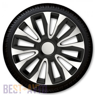 4 Racing Колпаки для колес Avalon Silver Black R16 (Комплект 4 шт.)