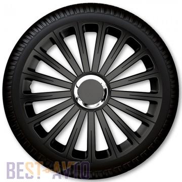 4 Racing Колпаки для колес Radical Pro Black R16 (Комплект 4 шт.)