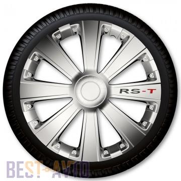4 Racing Колпаки для колес RS-T Silver R15 (Комплект 4 шт.)