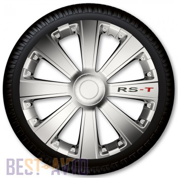 4 Racing Колпаки для колес RS-T Silver R16 (Комплект 4 шт.)
