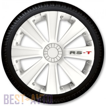 4 Racing Колпаки для колес RS-T White R15 (Комплект 4 шт.)