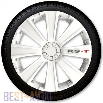 4 Racing Колпаки для колес RS-T White R16 (Комплект 4 шт.)