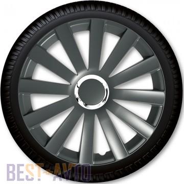 4 Racing Колпаки для колес Spyder Pro Grey R17 (Комплект 4 шт.)