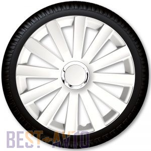 4 Racing Колпаки для колес Spyder Pro White R14 (Комплект 4 шт.)