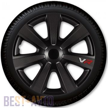4 Racing Колпаки для колес VR Carbon Black R14 (Комплект 4 шт.)