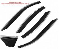 Cobra Tuning Profi Дефлекторы окон Hyundai Sonata VI Sd 2009 с хромированным молдингом