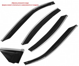 Cobra Tuning Profi Дефлекторы окон Nissan Qashqai +2 I 2008-2014 с хромированным молдингом