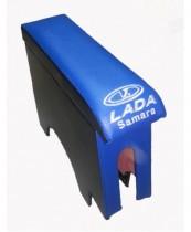 Probass Tuning Подлокотник Ваз 2108-2109-21099 с вышивкой длинный синий